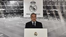 Real Madrid's president Florentino Perez speaks during a statement at the Santiago Bernabeu stadium in Madrid on January 4, 2016. AFP PHOTO/ GERARD JULIEN Quelle: AFP