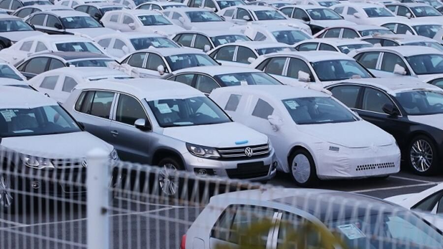 Vw S Imported Cars In Pyeongtaek On The West Coast Of South Korea