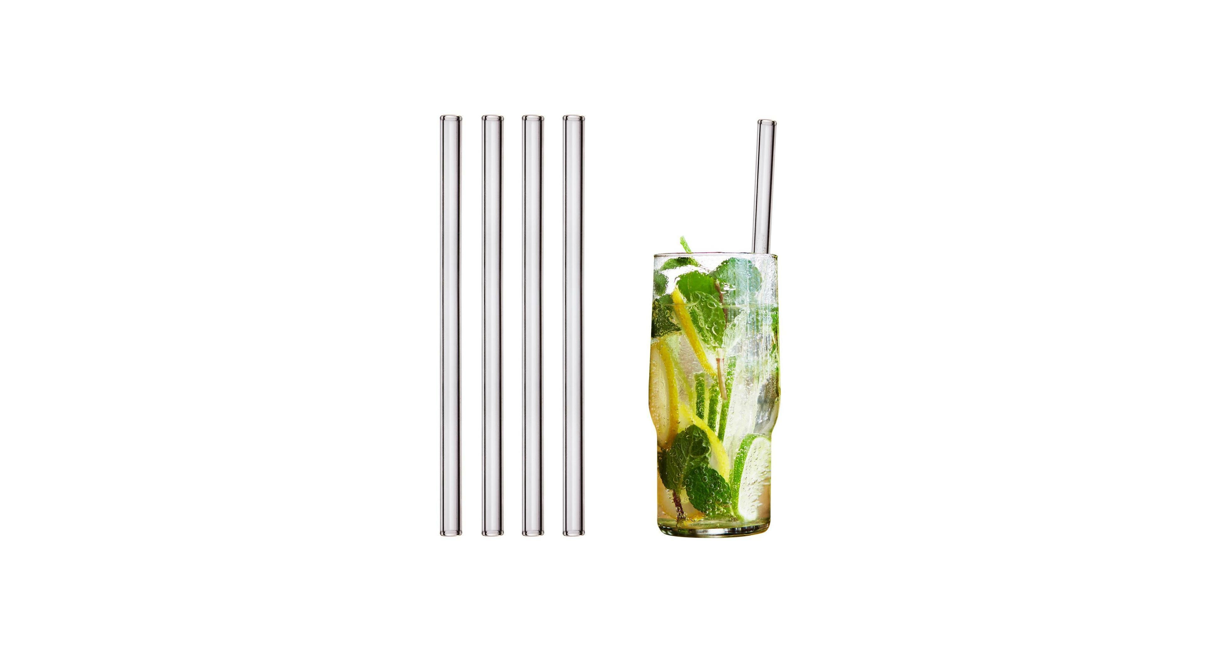 Statt Plastik: Trinkhalme aus Glas sind gefragt