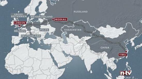 Briefe Von London Nach Deutschland : Gigantische zugverbindung km in tagen von