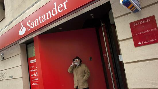 Eine Filiale der Santander-Bank in Madrid. Quelle: Reuters