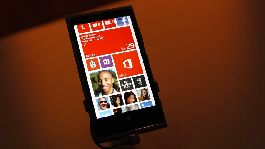 Ein Nokia Lumia 920 mit Windows 8. Quelle: Reuters
