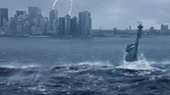 "Land unter in New York: Roland Emmerichs Film ""The Day After Tomorrow"" schildert die Auswirkungen eines Tsunamis auf die US-Metropole. Quelle: Reuters"