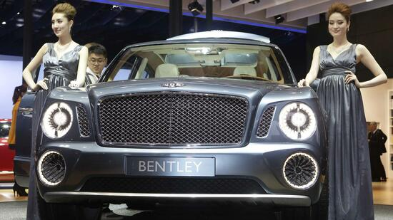Der Bentley EXP9 F auf einer Automesse in Peking. Quelle: Reuters