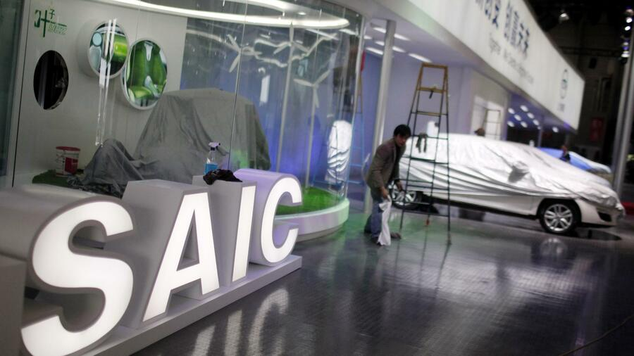 Chinesische Arbeiter bei Shanghai Automotive Industry Corporation (SAIC). Quelle: Reuters