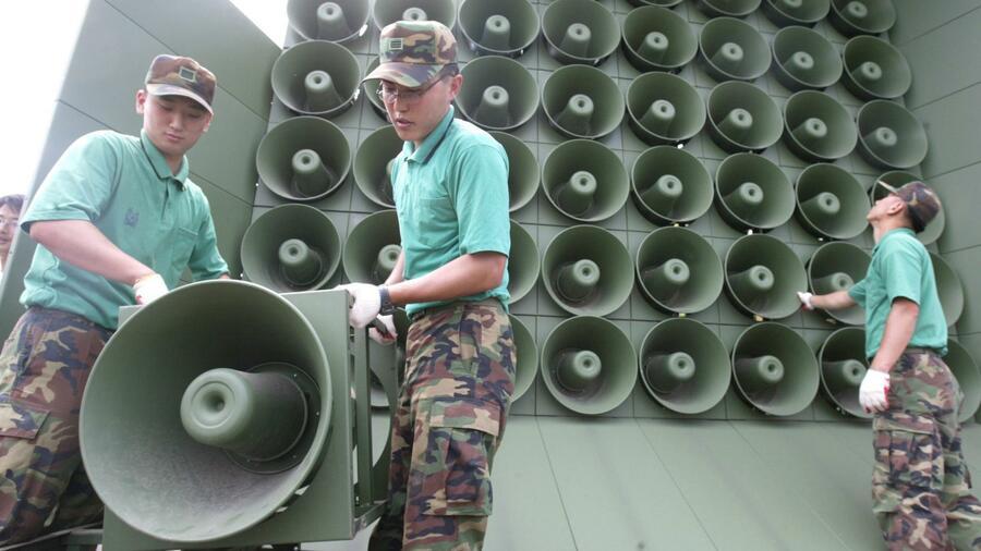 Seoul setzt Lautsprecher-Propaganda aus