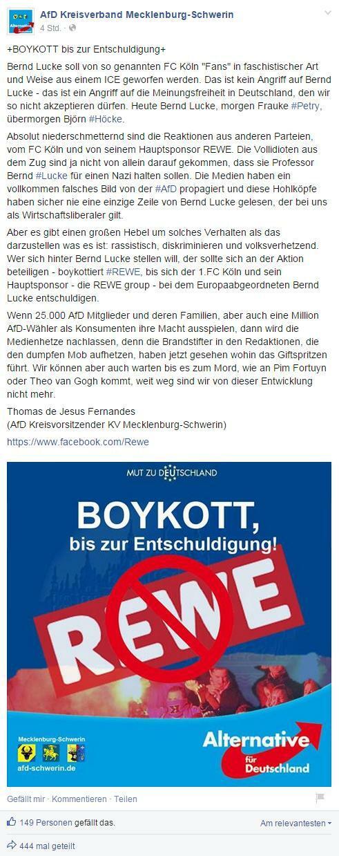 AfD-Shitstorm: Krisenpartei erntet Spott für Boykottaufruf gegen Rewe