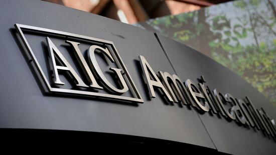 Das Logo der American International Group (AIG): Der Versicherungskonzern meldete am Donnerstag nach Börsenschluss seine Quartalszahlen. Quelle: AFP
