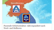 Beitrag von Satire-Seite: Aldi Süd wirbt mit Nordkorea-Witz