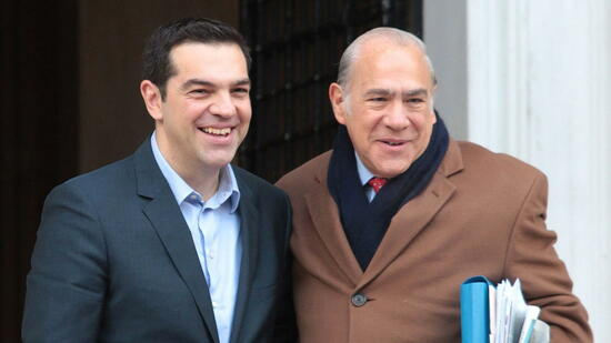 Alexis Tsipras (links) und Angel Gurria
