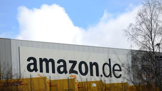 Das Logistikcenter des Internet-Versandhändlers Amazon in Bad Hersfeld. Quelle: dpa