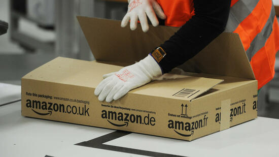 Das Amazon-Logistik-Zentrum in Pforzheim. Quelle: dpa