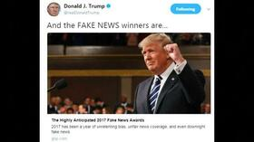 "Politik: Trump vergibt ""Fake News""-Medienpreise"