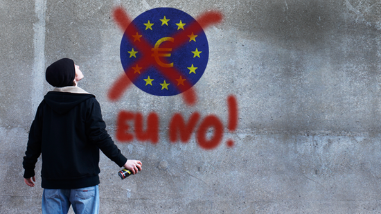 Ein Anti-Euro-Aktivist. Quelle: Getty Images