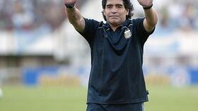 Argentiniens Nationaltrainer Diego Maradona. Foto: Bongarts/Getty Images Quelle: SID