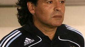 Argentiniens Trainer Diego Maradona. Foto: Bongarts/Getty Images Quelle: SID