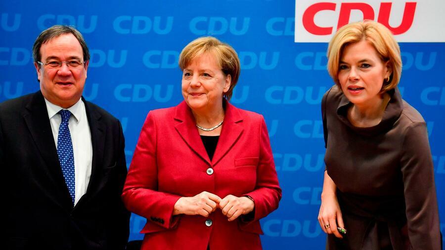 Nahles in der deutschen Wählergunst weit hinter Merkel
