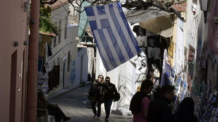 Passanten in Athen. Quelle: AFP