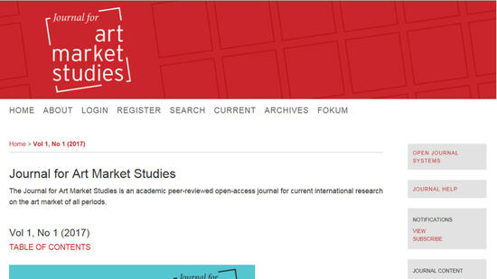 "Das neue ""Journal for Art Market Studies"" (Jams) im Open Access-Format Quelle: Technische Universität, Berlin"