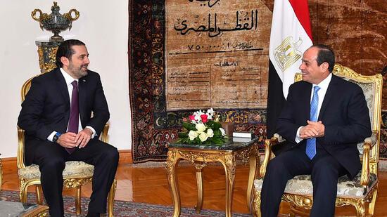 Zurückgetretener libanesischer Regierungschef Hariri in Kairo angekommen