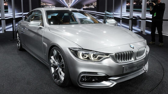Das BMW 4er Concept Coupe auf der North American International Auto Show (NAIAS) in Detroit. Quelle: dpa