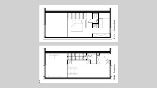 g nstige immobilien vom leben im wohnklo auf zwei etagen. Black Bedroom Furniture Sets. Home Design Ideas