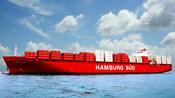 """Das Containerschiff """"Monte Rosa"""" der Reederei Hamburg Süd. Quelle: dpa"""