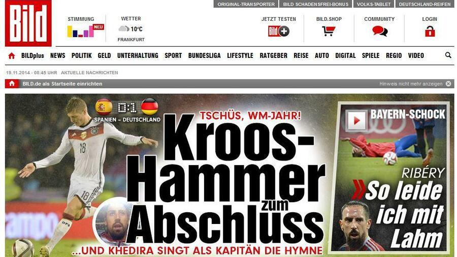 Pressestimmen Zum Länderspiel Schachmatt Durch Kroos