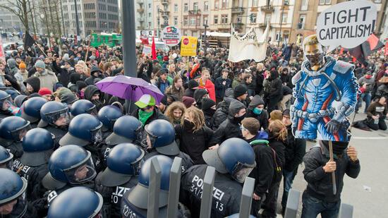 Demo Frankfurt Ezb