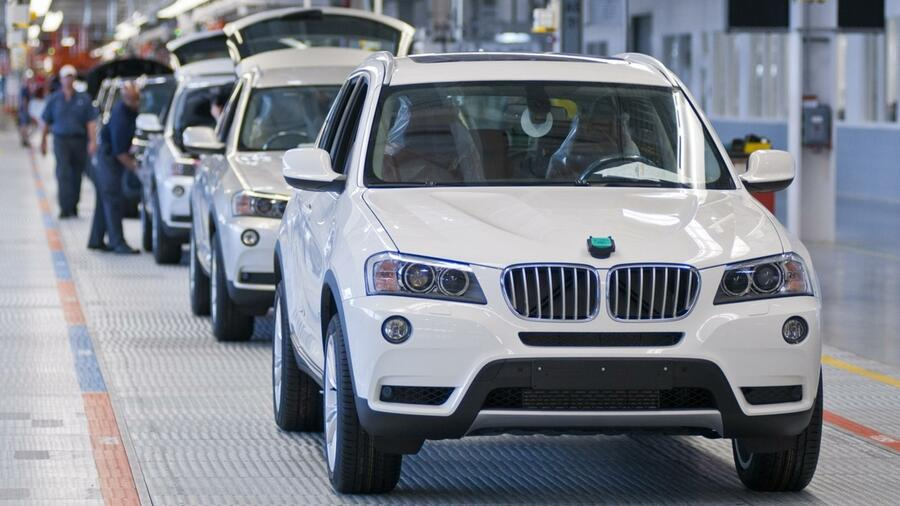Montage eines BMW X3 im BMW-Werk Spartanburg in den USA. Quelle: dpa