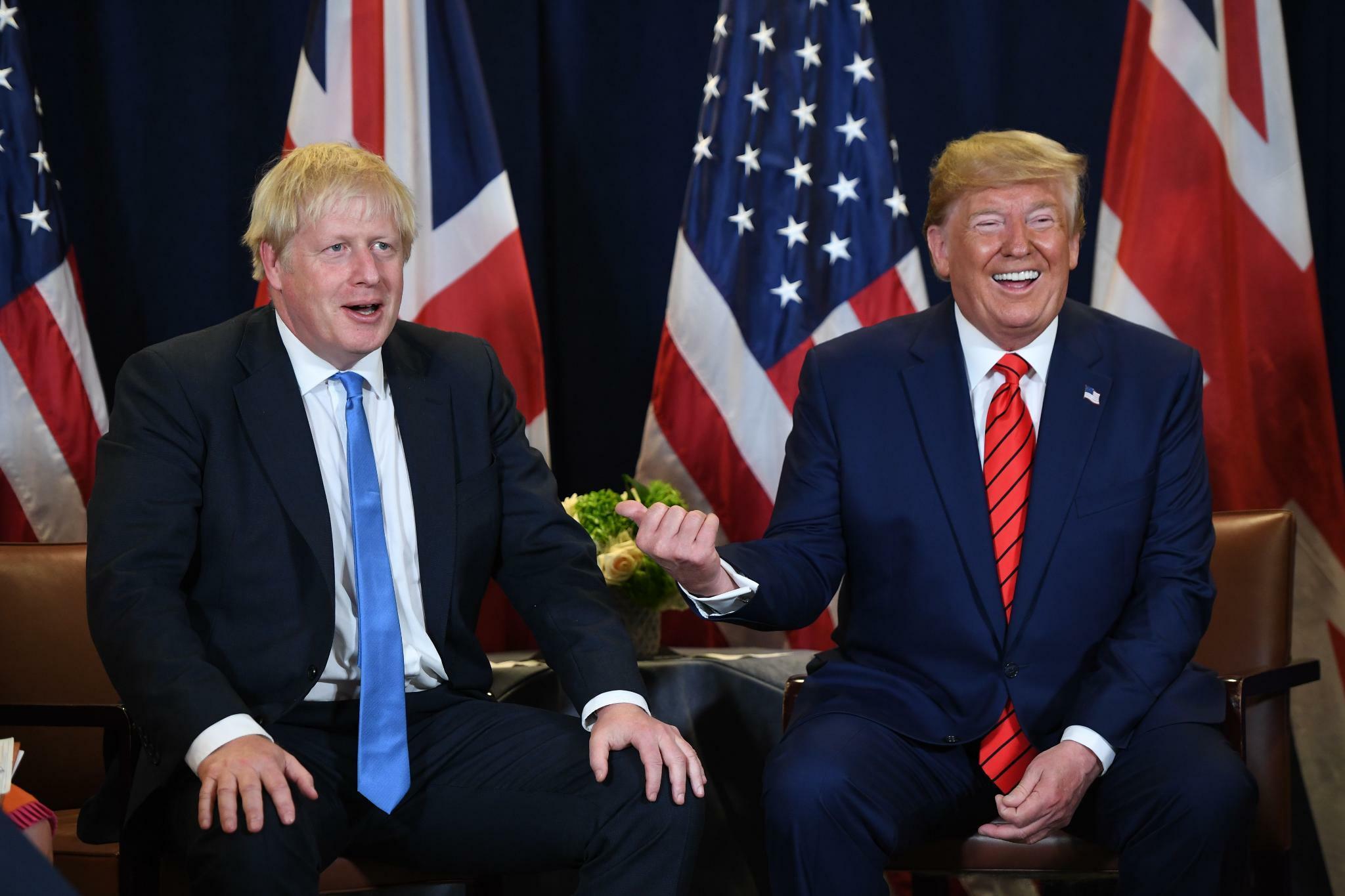 Trump und Johnson geben Startschuss für Jahresendrally
