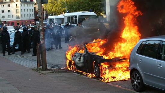 Gewalt bei G20-Protesten in Hamburg geht weiter