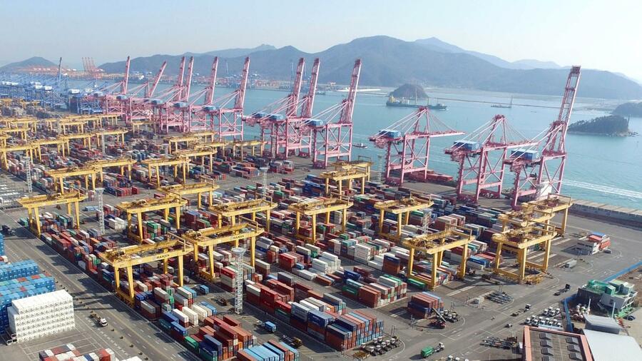Die südkoreanische Stadt Busan hat den siebtgrößten Containerhafen der Welt. Quelle: AFP