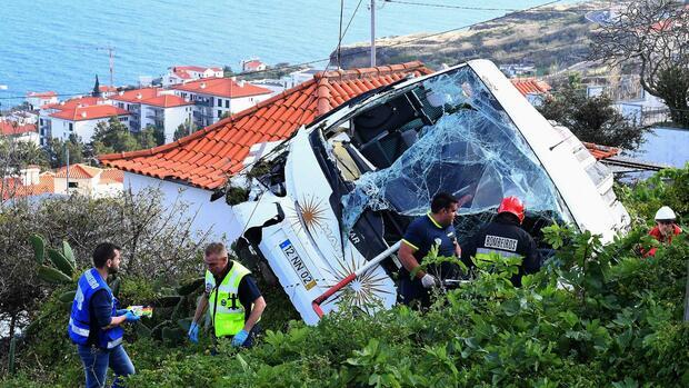 Madeira: Mehrere Tote bei Busunglück auf Ferieninsel Portugals