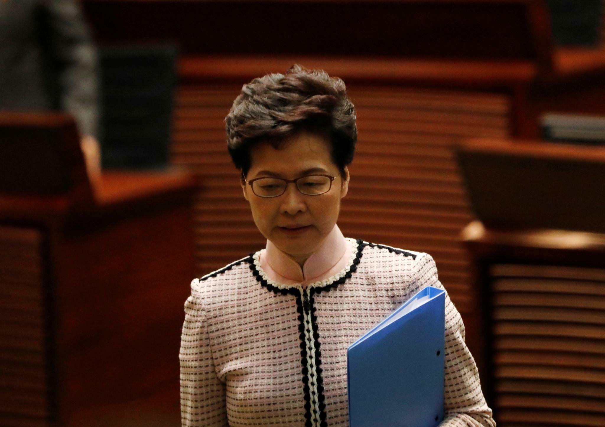 Hongkong: Carrie Lam bricht Regierungserklärung ab