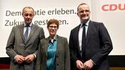 Merz, Kramp-Karrenbauer, Spahn: Dreimal die Mitte - Wie die CDU-Kandidaten in Lübeck bei den Mitgliedern ankamen