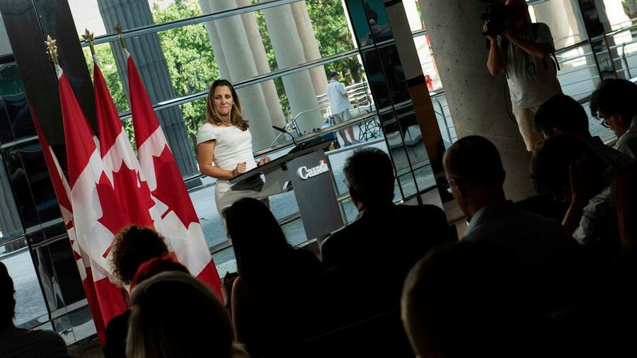"""Die kanadische Außenministerin sprach nach einem Treffen mit dem US-Handelsbeauftragten Robert Lighthizer von """"guten Fortschritten"""". Quelle AFP"""