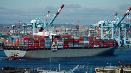 Containerschiff in den USA