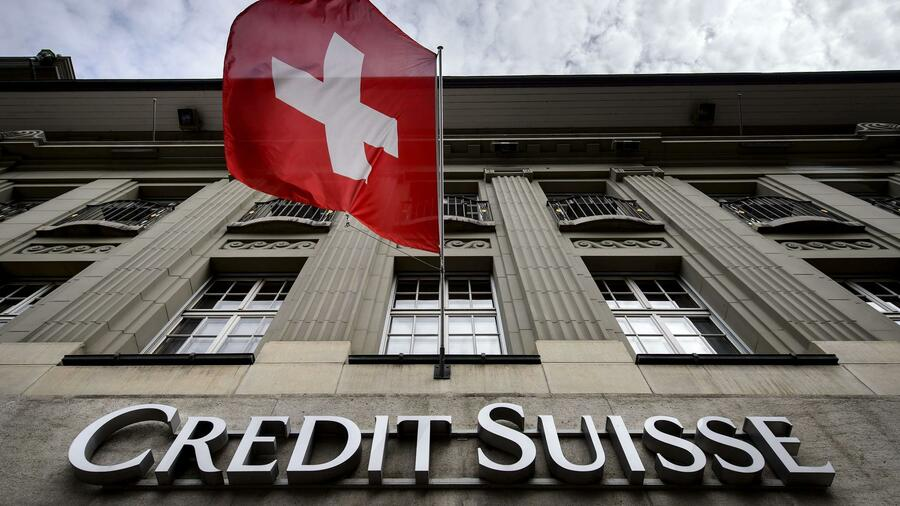 image of the bank of switz credit suisse with a flag of switz
