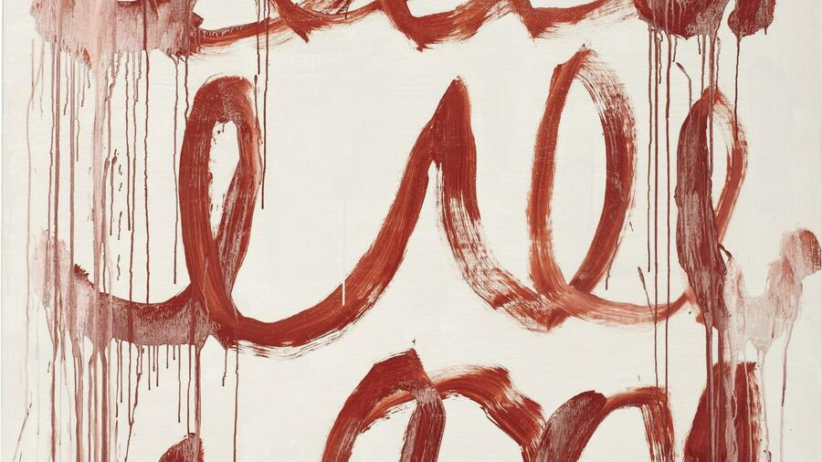 "Cy Twombly: ""Untitled"", 2006. (Ausschnitt) Quelle: Phillips de Pury & Company"