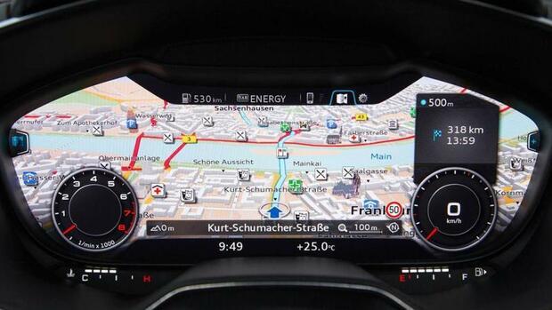 Virtuelles Cockpit und Tablet-Computer: Audi erfindet das ...   {Armaturenbrett audi 2}