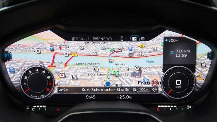 Armaturenbrett audi  Virtuelles Cockpit und Tablet-Computer: Audi erfindet das ...