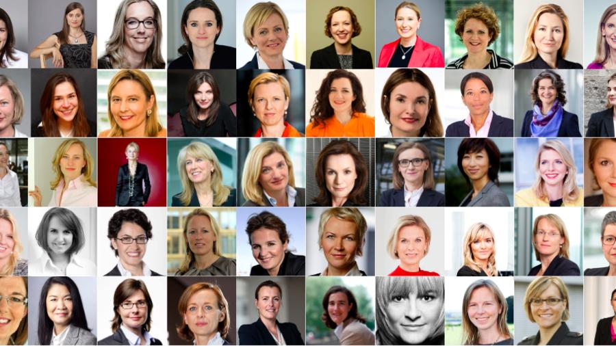 Top fünfzig Frauen im Internet
