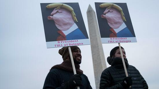 Demonstranten gegen Trump in Washington