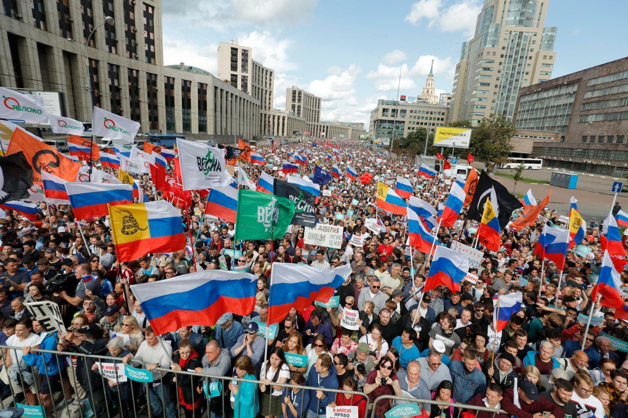 Mahnwachen in Moskau für Freilassung Gefangener und faire Wahlen