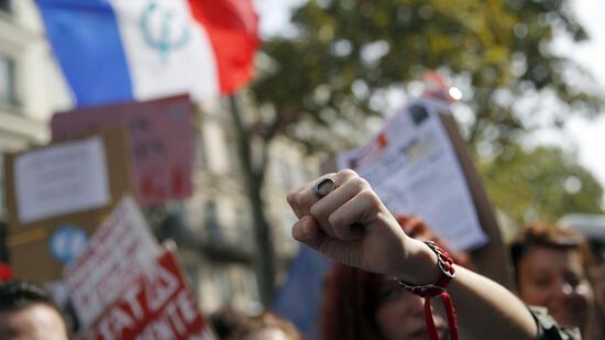 Gegen Arbeitsmarktreformen: Zehntausende Franzosen gehen auf die Straße