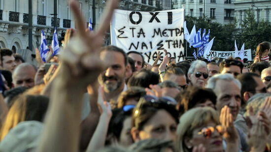 Demonstrationen in Athen