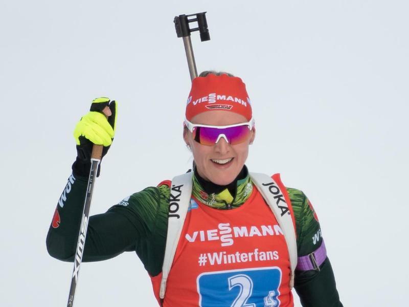 Biathletin Herrmann gewinnt Verfolgung vor Hildebrand