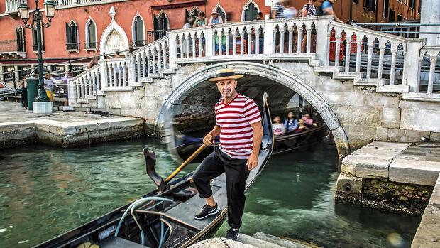 Venedig: Gondoliere Max Cravin entspannt am liebsten zu Fuß