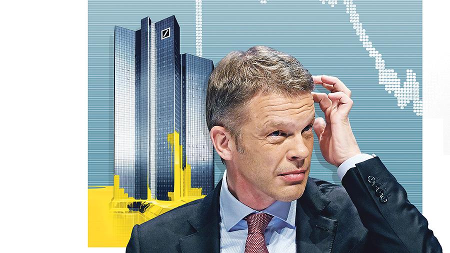Il CEO si preoccupa.  Il calo del prezzo delle azioni potrebbe portare a un accordo di disperazione con Commerzbank.  Fonte: illustrazioni: Julius Brauckmann, Smetek;  Foto: Arne Dedert / dpa [M]